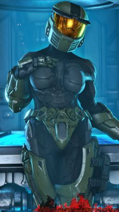 """ E ai galera? Thicc Anime, Anime Furry, Halo Funny, Halo Armor, Halo Spartan, Halo Series, Halo Game, Halo Reach, Robot Girl"
