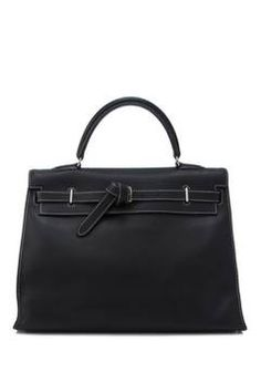 70637a1624 Hermès Swift Noir Kelly Flat 35 Hermes Bags