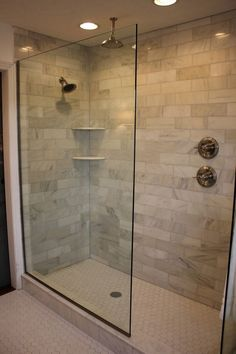 Design Of The Doorless Walk In Shower: