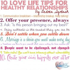 10 Love Life Tips for Healthy Relationships
