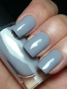 Lancome nail polish in a perfect shade of pale blue