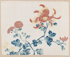 Antique ethnic textiles from Japan, China, Indonesia and Europe. Japanese Chrysanthemum, Japan Illustration, Meiji Era, Textiles, Tea Ceremony, Botanical Art, How To Draw Hands, Artsy, Weaving