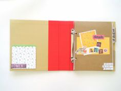Noteworthy Junior Mini Album: Playful album by April Joy Hill for SEI -- Love this mixed pocket page album with papers, pocket, and dividers -- Great size!