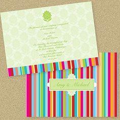 bright summer wedding invitations