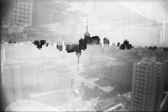 São Paulo, multiple exposure, black and white photography