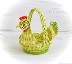 Подарки на Пасху ручной работы. Ярмарка Мастеров - ручная работа. Купить Плетеная пасхальная корзина Красавица-Весна, плетеная курочка. Handmade.