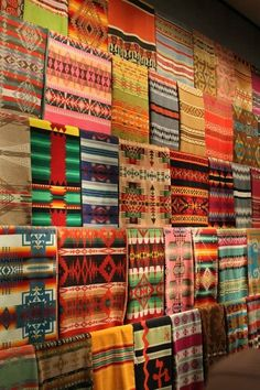 Pendleton blankets.  Love the patterns and colors. by molly