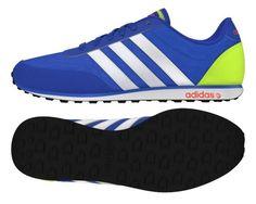 hot sales 42366 d5ee1 Zapatillas de retrorunning hombre Adidas V RACER Azul Lima Blanco   DEPORTESHERMIDA. Deportes Hermida