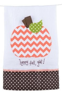 Glory Haus 'Happy Fall Y'all!' Tea Towel available at #Nordstrom
