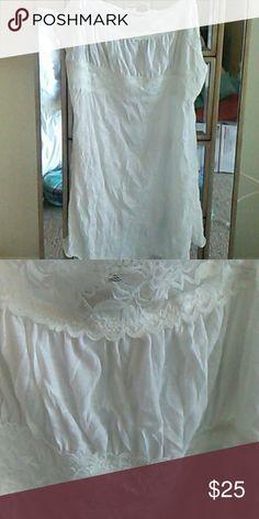 """White camisole tunic top. Boho style. Polyester. Very soft. 29"""" long. Tops"""