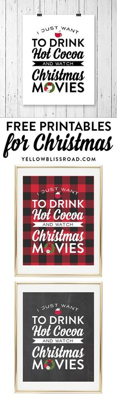 Free Printable for Christmas Movie Night! #Christmas #Movies | Holiday Family Fun