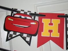 Disney Cars pixar Birthday banner by KraftingwithPatty on Etsy, $30.00