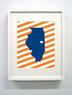 UrbanaCampaign+Illinois+State+Giclée+Print++8x10+++by+PaintedPost,+$14.00