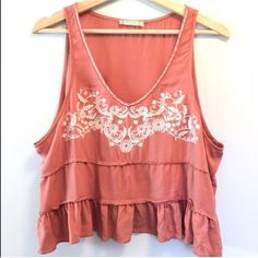 Embroidered Top by Altrd States Size Medium. Ruffled & Tiered top by Altrd' States. Really pretty color & design. Flowy and relaxed fit. Altrd State Tops