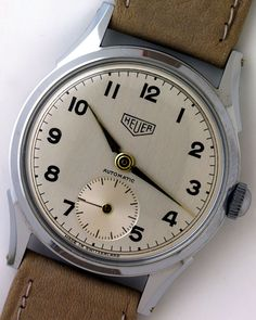 Heuer also made non-chronograph watches as dit Breitling. Not any different from the other brands in the 1950's. Just NICE!
