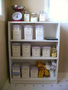 Organizing baking goods...i.e. flour, seeds, yeast, dry goods of all types