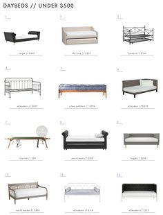 A Roundup of 36 of Our Favorite Daybeds – Emily Henderson Emily Henderson Roundup Daybeds Under 500 Nursery Daybed, Daybed Room, Daybed Couch, Rattan Daybed, Guest Room Decor, Guest Room Office, Modern Daybed, Modern Bedroom, Small Daybed