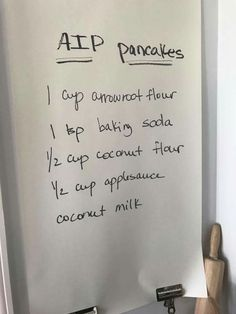 AIP Pancakes sweetened with applesauce