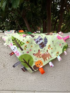 Forest Animals Tag Blanket with your choice of Minky by mommysew, $10.00