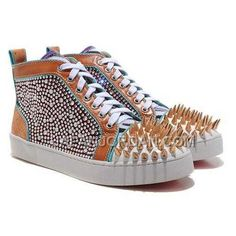 www.japanjordan.c... 割引販売 CHRISTIAN LOUBOUTIN LOUIS SPIKES HIGH TOP SNEAKERS MULTICOLOR Only ¥17,146 , Free Shipping!