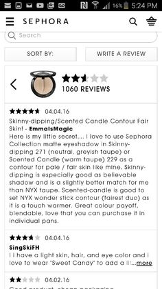 Sephora's Skinny Dipping Eyeshadow single as a contour for fair skin!? Thanks for the tip, stranger ♡