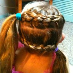 Reverse pig tail braids, I usually like to bun the remaing hair or leave it go for that 80's look.