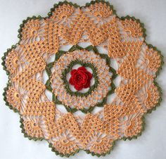 I am pleased to share this free pattern with you; this doily was named for my mother, Mavanee Joann, who loved roses and taught me how to...