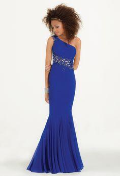 One-Shoulder Illusion Lace Applique Dress