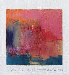 Oil on canvas  9 cm x 9 cm  © 2016 Hiroshi Matsumoto www.hiroshimatsumoto.com #abstractart #OilPaintingAbstract