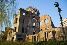 Gambaku Dome of Hiroshima - this site serves as a memorial to the people who were killed in the atomic bombing in Heroshima, August 6, 1945
