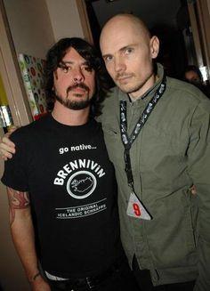 Dave Grohl of Foo Fighters/Nirvana/Probot/QOTSA/everything and Billy Corgan of Smashing Pumpkins