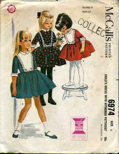 McCalls 6974 ~ vintage 1963 Helen Lee (the 3/4 length sleeves get me every time)