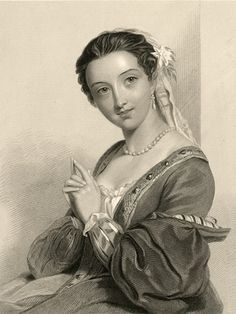 Lovely old Victorian engravings of beautiful women early - mid 1800's.