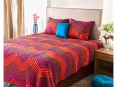 Multicoloured Printed Hand Qulited bedspread Quilted Bedspreads, Bed Spreads, Comforters, Quilts, Blanket, Printed, Furniture, Home Decor, Creature Comforts