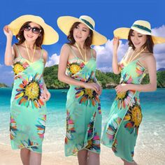 Beach dress  Beautiful beach dress made of chiffon. Colorful flowers give you a holiday and joyful atmosphere, and you will always feel comfortable and fashionable. You can wear a dress in any circumstance. It will fit perfectly for summer walks on the beach or for a visit to a cafe. https://www.cosmopolitus.com/2017-summer-fashion-bohemian-romance-dress-harness-beach-towel-p-248902.html?language=en&pID=248902 #Beach #dress #holiday #flowers #holiday #sea
