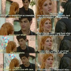 "#Shadowhunters 1x05 ""Moo Shu to Go"" - Clary and Alec"