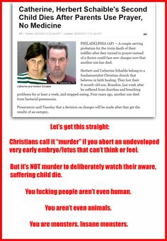 """Insane monsters...and the court let them OFF with the first murder because of """"religious privilege!!!"""""""