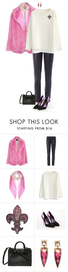 """""""Warming Up Denim 3"""" by bluecatreview13 ❤ liked on Polyvore featuring J.Crew, Helmut by Helmut Lang, Bottega Veneta, Chicwish, Rupert Sanderson, denim, bluecatreview and over50styling"""