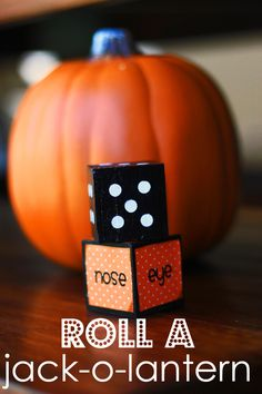 This link doesn't take you anywhere, but I had the idea of using this with the pillows I made. They are orange sweater covers with jackolantern faces cut out of felt so my daughter can make different faces. We could make a game out of it with the dice!
