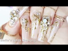 CRYSTAL CHAIN SCULPTED NAILS - Cadena esculpido uñas - COLLAB WITH UNIQUE NAILZ | ABSOLUTE NAILS - YouTube