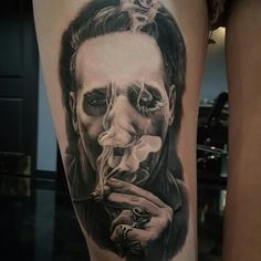 """"""" something is cold and blank behind her smile"""" oh #marilynmanson @bmerck_ink…"""