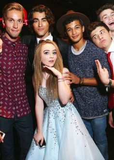 Sabrina Carpenter at her 16 birthday with Disney stars <3 <3