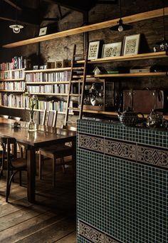 その他事例:ならまちの町屋をコンバージョンしたブックカフェ。(Cafe Franz Kafka)