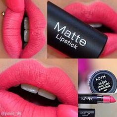 Original USA/UK: Antara Top colour for Nyx Matte 💄 in Street Creed Rm 29 each Matte lipstick non drying but matte😘 Got . Lipstick Shades, Matte Lipstick, Lipstick Colors, Lip Colors, Nyx Matte, Lipsticks, Nyx Makeup, Makeup Swatches, Beauty Makeup