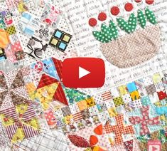 """In the following video tutorial learn the how to """"quilt as you go""""with Jen Kingwell and the Fat Quarter Shop. - Sewtorial"""