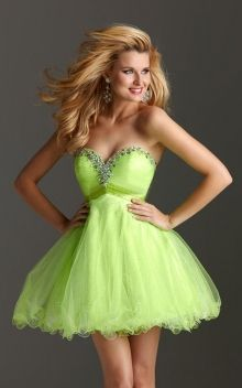 Beaded Sweetheart Short A-line Organza Dress
