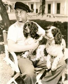 Bing Crosby, and his two dogs