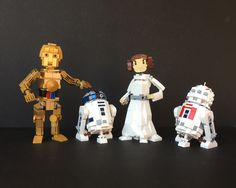 """Three droids and a Princess"" by Miro78: Pimped from Flickr"