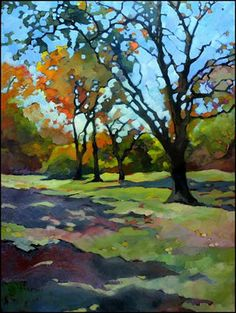 Just Landscape Animal Floral Garden Still Life Paintings by Louisiana Artist Karen Mathison Schmidt: Impressionist painting colorful fall treesLouisian...