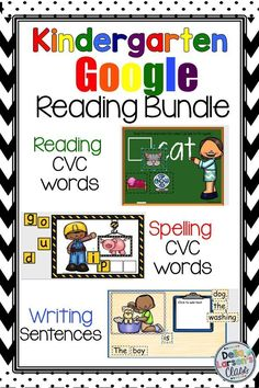 Ready for Google Classroom? This bundle of Google slides will increase reading fluency. Kindergarten students will learn spelling cvc words, reading cvc words, and writing sentences. Go digital in your literacy and word word centers. It's time to be paperless and embrace technology.
